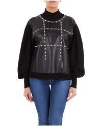 Alberta Ferretti 09276600 High Neck Sweater - Zwart