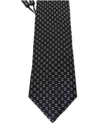 Dolce & Gabbana Silk Patterned Tie - Zwart