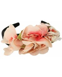 Dolce & Gabbana Floral headband logo diadem - Noir