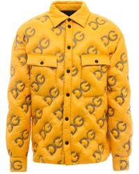 Dolce & Gabbana Down Jacket G9vw7tgeu32 - Geel