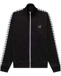 Fred Perry Taped Track Jacket Sweater - Zwart