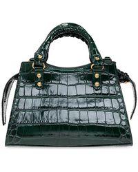 Balenciaga Neo Classic Mini-schoudertas - Groen