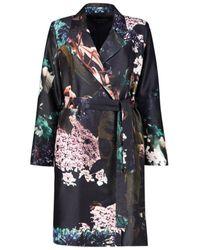 Marina Rinaldi Floral Kimono Coat - Blauw