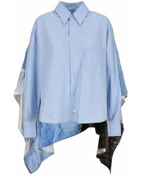 MM6 by Maison Martin Margiela Shirt S62dl0042stz007 - Blauw