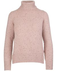 Fedeli Roll Neck Sweater - Roze