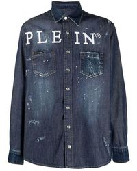 Philipp Plein Logo Shirt - Blu