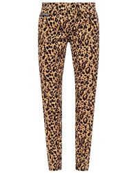 Versace Jeans Leopard-printed Jeans - Bruin