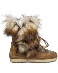 Moon Boot Checked Combined Boots - Bruin