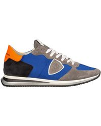 Philippe Model Men's Shoes Leather Trainers Sneakers Tropez - Blauw