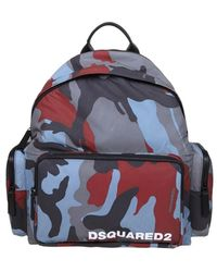 DSquared² Backpack in camouflage fabric - Bleu