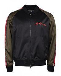 Alexander McQueen Bomber Dragon Jacket - Zwart