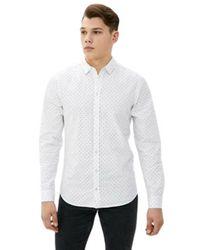 Blend Camicia Manica Lunga - Bianco