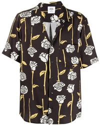 Opening Ceremony Allover roses asym. s/s shirt - Negro