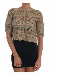 Dolce & Gabbana Crochet Knitted Floral Sweater - Naturel