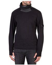 Stussy Sweatshirt Diagonal Raised Fleece High Neck Lens Sweat - Zwart