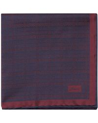 Brioni Silk Jacquard Pocket Square - Rosso