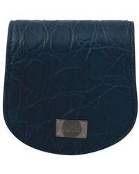 Dolce & Gabbana Leather Holder Pocket Condom Case - Bleu