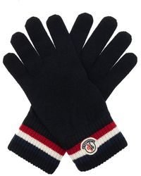 Moncler Gloves With Logo - Blauw