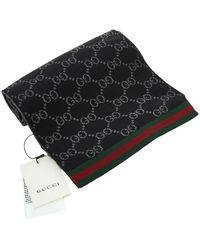 Gucci Wollen Sjaal - Zwart