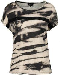 Monari T-shirt Batik Strass 405539 - Naturel
