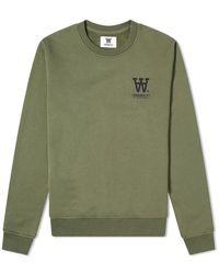 WOOD WOOD Tye Sweatshirt -L - Verde