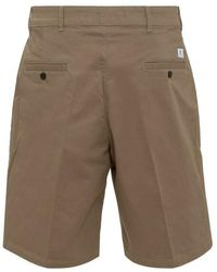 Department 5 Shorts with Logo - Marron