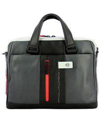 Piquadro Slim Briefcase For Pc Urban 14.0 - Grijs