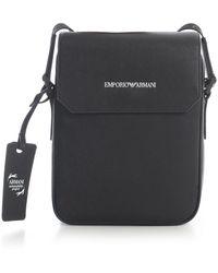 Emporio Armani Shoulder Bag W/flap - Zwart