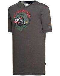 Aeronautica Militare P/E20 Ts1709 T-Shirt Manica Corta Gris