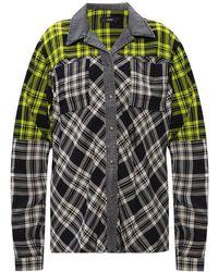 DIESEL Checked Shirt - Grijs