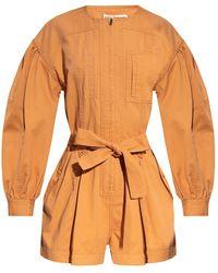 Ulla Johnson Delta jumpsuit with tie waist - Arancione