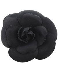 Chanel Vintage Broche camélia - Noir