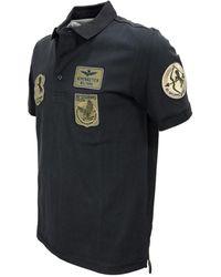 Aeronautica Militare Polo Picche' Po1538 Patch Negro