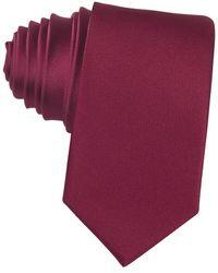 Laura Biagiotti Satin Silk Narrow Tie - Rot