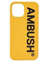 Ambush Cover Iphone 12Pro Maxi Logo - Gelb