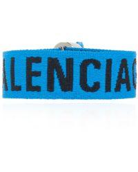 Balenciaga Bracelet With Logo - Blauw