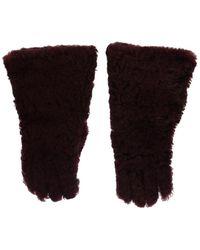 Dolce & Gabbana Leather Shearling Fur Handschoenen - Meerkleurig