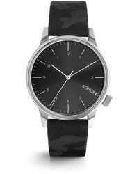Komono Winston Camo Horloge - Zwart
