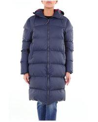 Rains Long Jacket - Blauw