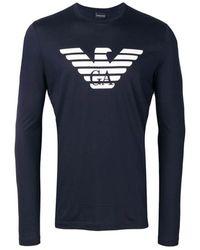 Emporio Armani T-shirts And Polos T-shirt - Blauw
