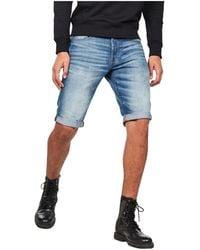 G-Star RAW - Sato Denim Shorts - Lyst