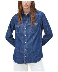 Pepe Jeans Camisa - Blauw
