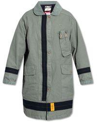 DIESEL Coat with corduroy collar - Grau