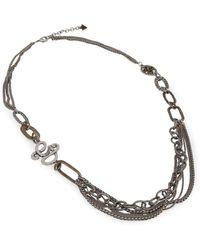 Guess Halskette Ufn50801 - Grau