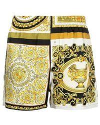 Versace Classic Baroque Pyjama Shorts - Geel