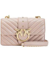 Pinko Love Mini Icon V Quilt Bag - Roze