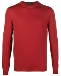 Zanone Sweater - Rood