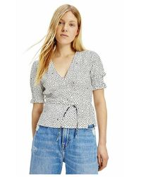 Tommy Hilfiger Top cache coeur - Bianco