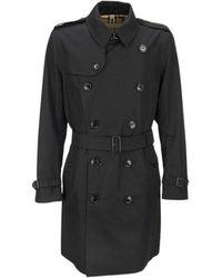 Burberry Kensington Heritage Trench Coat - Zwart