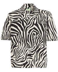 Aries - Zebra Print Hawaiian Shirt - Lyst